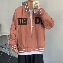 Jacket Other / other Youth fashion Black, red M,L,XL,2XL easy Other leisure spring Long sleeves Wear out Lapel tide teenagers 2021