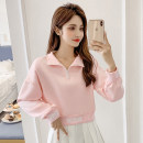 Sweater / sweater Summer 2020 Charming white powder S M L XL Long sleeves have cash less than that is registered in the accounts Socket singleton  routine stand collar easy commute routine Solid color 25-29 years old 81% (inclusive) - 90% (inclusive) LK2003 Korean version polyester fiber LK211-0599