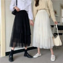 skirt Winter 2020 XS S M L Black apricot Mid length dress commute High waist Cake skirt Solid color Type A 25-29 years old LK204-0600 81% (inclusive) - 90% (inclusive) LK2003 polyester fiber Korean version Polyester 90% other 10% Pure e-commerce (online only)