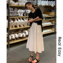 skirt Spring 2021 S,M,L Mid length dress commute Natural waist Fairy Dress Type A 18-24 years old 21.04.12 71% (inclusive) - 80% (inclusive) polyester fiber Korean version 101g / m ^ 2 (including) - 120g / m ^ 2 (including)