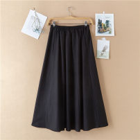 skirt Spring of 2019 S,M,L,XL,2XL longuette Versatile Natural waist A-line skirt Solid color Type A 18-24 years old 71% (inclusive) - 80% (inclusive) Hi, home cotton