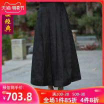 skirt Winter of 2018 S M L XL XXL XXXL Black flowers longuette Versatile Natural waist Pleated skirt Decor Type A 35-39 years old Ruoyun More than 95% Chinese Classics silk Mulberry silk 100% Pure e-commerce (online only)