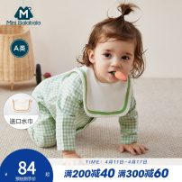 Jumpsuit / climbing suit / Khaki Mini Balabala Class A female 66cm 73cm 80cm 90cm Cotton blended fabric spring and autumn Long sleeves Long climb leisure time There are models in the real shooting nothing Single breasted Spring 2020 6 months 12 months 18 months 2 years 9 months Chinese Mainland