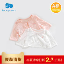 Plain coat Les enfants female 90cm100cm110cm120cm White pink summer princess Single breasted No model Thin money nothing Solid color cotton Crew neck 01B201070100 Cotton 85.4% polyester 14.6% Class A Summer of 2018