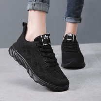 Low top shoes 35,36,37,38,39,40,41, collection plus enough gifts, 30 day bag return, standard size of sports shoes Warrior / Huili Round head Mesh Flat bottom Low heel (1-3cm) Shallow mouth cloth Summer 2020 Frenulum Korean version Adhesive shoes Youth (18-40 years old), children (under 18 years old)