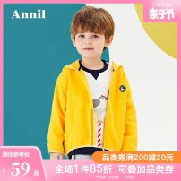 Sweater / sweater Annilbaby / annilbaby Rice white water pink blue male 80cm 90cm 100cm 110cm 120cm spring and autumn nothing leisure time Zipper shirt There are models in the real shooting Cotton blended fabric Cartoon animation Cotton 94.2% polyurethane elastic fiber (spandex) 5.8% XB011555