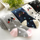 Children's socks (0-16 years old) Pantyhose Milky white, grey, black, navy XS suggests 2-4 years old, s suggests 4-6 years old, m suggests 6-8 years old, l suggests 8-10 years old DIDU DIDU spring and autumn female Class B
