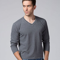 T-shirt Youth fashion routine M,L,XL,2XL,3XL Others Long sleeves V-neck easy daily spring Cotton 80% other 20% middle age routine Basic public other 2020 stripe other cotton Chinese culture No iron treatment Non brand 80% (inclusive) - 89% (inclusive)