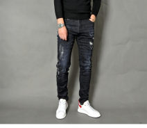 Jeans Fashion City He's in a hurry navy blue routine Micro bomb trousers Other leisure autumn teenagers Medium low back Slim feet Youthful vigor 2018 Little straight foot zipper Embroidery