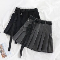 skirt Summer 2020 S [90-100kg], m [100-110kg], l [110-120kg], XL [120-135kg], 2XL [135-150kg], 3XL [150-165kg], 4XL [165-175kg], 5XL [175-200kg] Light grey, black Short skirt commute High waist Pleated skirt Solid color Type A 18-24 years old 51% (inclusive) - 70% (inclusive) Other / other