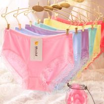 underpants female 10 pieces of pure cotton, 10 pieces of modal, 5 pieces of pure cotton + 5 pieces of modal Average size (80-115kg) plus size (115-145kg) 5 average sizes + 5 plus sizes Other / other 10 cotton Briefs middle-waisted Simplicity Solid color youth More than 95% Cotton fabric Weekly pants