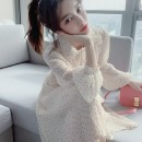 Women's large Autumn 2016 Dress S M L XL Dress singleton  commute Self cultivation moderate Socket Long sleeves Dot Korean version other Medium length polyester fiber Three dimensional cutting puff sleeve Princess Tina 25-29 years old fungus 96% and above Medium length Pure e-commerce (online only)
