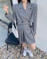 Fashion suit Spring 2021 S, M Light gray, black, ginger, pink, apricot, note color for single top, note color for single skirt 25-35 years old Other / other 5009-5008 81% (inclusive) - 90% (inclusive) cotton