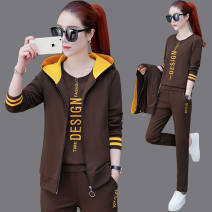 Casual suit Spring 2021 Fruit, carmine, green, coffee M,L,XL,2XL,3XL Other / other