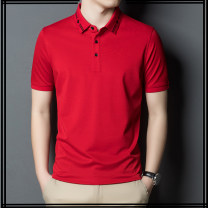 T-shirt Fashion City White, black, red, yellow thin 165/80A,170/84A,175/88A,180/92A,185/96A,190/100A Lilanz / LiLang Short sleeve Lapel standard Other leisure summer youth routine Business Casual Woven cloth 2021 Solid color Button decoration cotton Chinese culture No iron treatment