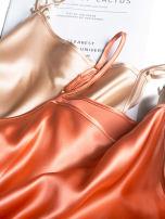 Dress Summer 2020 Satin water green, satin peacock green, satin skin color, satin skin powder M, L singleton  commute Solid color camisole Pu Xu Retro B8007 silk