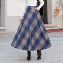 skirt Winter of 2019 S,M,L,XL,2XL,3XL longuette High waist A-line skirt lattice 25-29 years old Wool Other / other