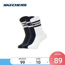 Sports socks Black / White / Navy / 00j8 SKECHERS / SKECHERS 24-26 cm male Middle cylinder Autumn 2020 L320M084 yes