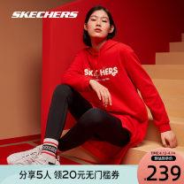 Sports dress female SKECHERS / SKECHERS Spring 2021 Long sleeves Socket Hood Brand logo yes Sports & Leisure