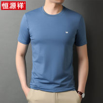 T-shirt other routine 165/M 170/L 175/XL 180/2XL 185/3XL 190/4XL hyz  Short sleeve Crew neck standard Other leisure summer Cotton 95% polyurethane elastic fiber (spandex) 5% middle age routine Business Casual Cotton wool Spring 2021 Solid color Embroidered logo cotton No iron treatment More than 95%
