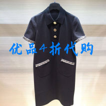 Dress Summer 2021 Article No 2 = s, 3 = m, 4 = L, 5 = XL Mid length dress singleton  Short sleeve commute Polo collar middle-waisted Solid color Socket A-line skirt routine Others Type A Brother amashsin Ol style 1500297-4219211-001 More than 95% cotton