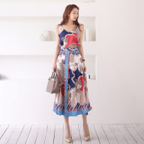 Fashion suit Summer of 2019 S,M,L,XL Apricot, red and blue 18-25 years old
