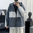 Jacket Other / other Youth fashion Gray, black S. M, l, XL, 2XL, XS plus small routine easy Other leisure spring Long sleeves Wear out Hood tide youth routine Zipper placket 2021 other