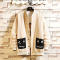 Jacket Other / other Fashion City Black, yellow, beige M. L, s, XL, 2XL, 3XL, 4XL, 5XL, XS plus small routine easy Other leisure spring Long sleeves Wear out Baseball collar like a breath of fresh air youth routine Single breasted 2021 other Closing sleeve Solid color Mingji thread patch bag cotton
