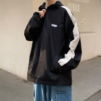 Jacket Other / other Youth fashion Black, khaki, blue M. L, s, XL, 2XL, 3XL, XS plus small, 4XL, 5XL routine easy Other leisure Four seasons Long sleeves Wear out Hood Large size routine Zipper placket 2021 Bag digging with open cut thread