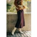 skirt Winter 2020 XS,S,M,L,XL Blackcurrant purple Mid length dress Versatile Natural waist Ruffle Skirt Solid color 71% (inclusive) - 80% (inclusive) Cellulose acetate