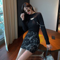 Fashion suit Autumn 2020 S,M,L Fold two knitwear, skirt, fold two knitwear + skirt 18-25 years old 81% (inclusive) - 90% (inclusive)