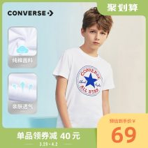 T-shirt Converse / converse male spring and autumn Long sleeves Crew neck leisure time There are models in the real shooting nothing cotton other Cotton 100.00% Class B Sweat absorption Autumn 2020 Chinese Mainland