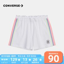 trousers Converse / converse female summer shorts motion Casual pants zipper cotton Don't open the crotch Cotton 100% Class B Summer 2020 2 years old, 3 years old, 4 years old, 5 years old, 6 years old, 7 years old, 8 years old, 9 years old, 10 years old, 12 years old, 13 years old, 14 years old