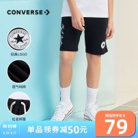 trousers Converse / converse male 110/4 110/5 120/6 130/7 140/S 150/M 160/L 160XL Regular black Navy Blue Ridge grey cv2022196gs-001 regular black cv2022196gs-001 navy blue cv2022196gs-001 ridge grey summer Pant leisure time There are models in the real shooting Sports pants middle-waisted cotton