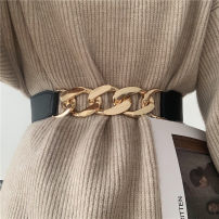 Belt / belt / chain other Gold, silver female belt Versatile Single loop Youth, youth, middle age Smooth button other soft surface 4.4cm alloy Naked, elastic Other / other Design three elastic waistband