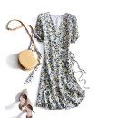 Dress 30% and below other Summer 2020 Medium length skirt other singleton  Long sleeve commute V-neck middle-waisted other Eissicala / escala Condom other routine Other Type A Korean version printing S,M,L