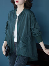 Women's large Summer 2020 Dark green black L [recommended 80-100 kg] XL [recommended 100-120 kg] 2XL [recommended 120-140 kg] 3XL [recommended 140-160 kg] 4XL [recommended 160-180 kg] 5XL [recommended 180-200 kg] Jacket / jacket singleton  commute easy moderate Cardigan Long sleeves Solid color other