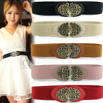 Belt / belt / chain other female Waistband Versatile Single loop Youth, youth, middle age, old age a hook Flower design soft surface 3.8cm alloy CLB Yundou