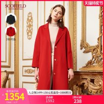 woolen coat Spring 2020 165 155 160 170 175 Black red wool 81% (inclusive) - 90% (inclusive) Medium length Long sleeves commute Buckle routine V-neck Solid color Straight cylinder lady SFJWA1C003 SCOFIELD 30-34 years old Wool 90% polyamide 10% Same model in shopping mall (sold online and offline)