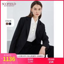 suit Winter 2020 Brown Black 155 160 170 175 165 Long sleeves routine Straight cylinder V-neck Single breasted Solid color SFJKA4911Q 30-34 years old 96% and above wool SCOFIELD Wool 100% Same model in shopping mall (sold online and offline)