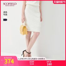 skirt Autumn 2020 155 160 165 170 175 Ivory Navy Middle-skirt commute Natural waist 30-34 years old 81% (inclusive) - 90% (inclusive) SCOFIELD Viscose Same model in shopping mall (sold online and offline)