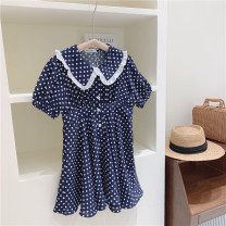 Dress One piece dress female Other / other 110cm / tag 110120cm / tag 120130cm / tag 130140cm / tag 140150cm / tag 150160cm / tag 160 Other 100% summer college Short sleeve Dot other A-line skirt other Chinese Mainland