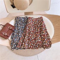 skirt 100cm / tag 5110cm / tag 7120cm / tag 9130cm / tag 11140cm / tag 13150cm / tag 15 Red floral skirt, blue floral skirt Other / other female Other 100% summer skirt Forest Department Broken flowers other other