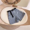 trousers Other / other female 100cm / tag 5110cm / tag 7120cm / tag 9130cm / tag 11140cm / tag 13150cm / tag 15 One piece denim shorts summer shorts Europe and America No model Jeans Leather belt High waist Denim Don't open the crotch Other 100% other c21182 Chinese Mainland