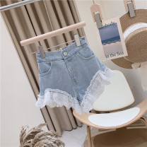 trousers Other / other female 100cm / tag 5110cm / tag 7120cm / tag 9130cm / tag 11140cm / tag 13150cm / tag 15 Washed denim light blue summer shorts Sweet No model Jeans Leather belt middle-waisted Denim Don't open the crotch Other 100% other 2, 3, 4, 5, 6, 7, 8, 9, 10, 11 Chinese Mainland