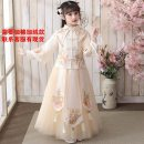 Tang costume Champagne 100cm,110cm,120cm,130cm,140cm,150cm,160cm Polyester 99% other 1% female spring There are models in the real shooting routine Other / other polyester fiber Class A Solid color Cotton liner 10, 11, 12, 13, 14, 5, 6 Chinese Mainland