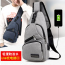 Men's bag Chest pack canvas Other / other brand new leisure time leisure time zipper soft Small no Zipper bag, ID bag Solid color Yes Single root youth Vertical square polyester fiber Soft handle Three dimensional bag