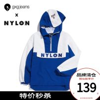 Jacket gxg.jeans Youth fashion 165/S,170/M,175/L,180/XL,185/XXL standard Other leisure spring Polyester 100% Long sleeves Hood tide youth Zipper placket polyester fiber Color matching polyester fiber More than 95%