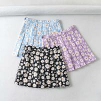 skirt Summer 2020 XS,S,M,L Purple, blue, black Short skirt fresh High waist Pleated skirt Decor Type A 18-24 years old 71% (inclusive) - 80% (inclusive) other polyester fiber printing