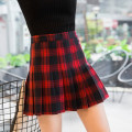skirt Winter of 2018 XS,S,M,L,XL Short skirt street High waist Pleated skirt lattice Type A 18-24 years old 81% (inclusive) - 90% (inclusive) other other Europe and America